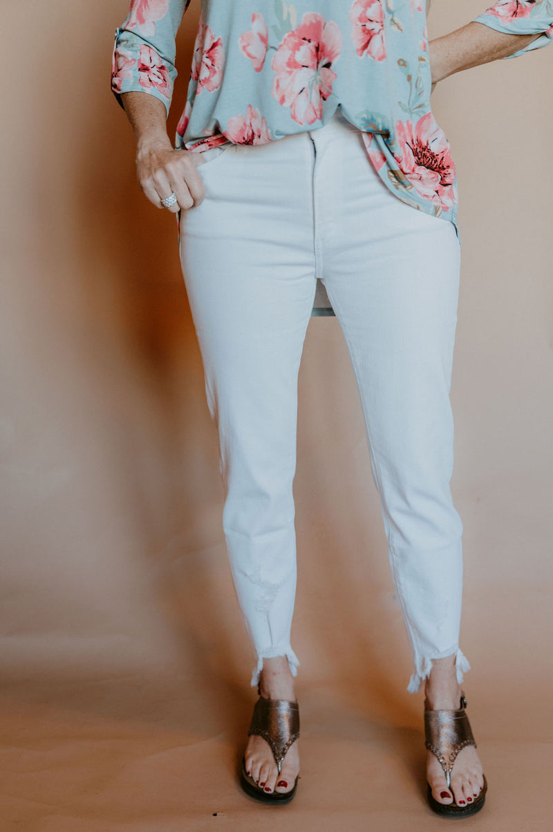 Angelina White High Rise Skinny Jeans
