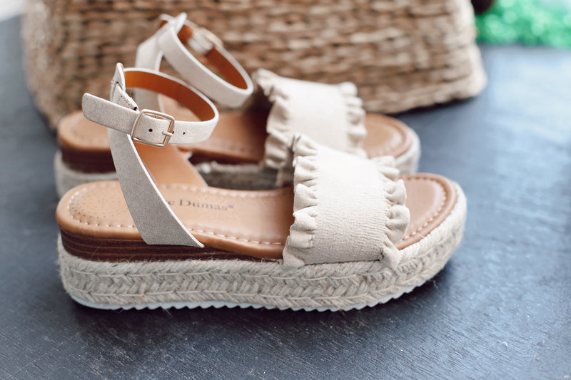 Beachside Suede Wedges