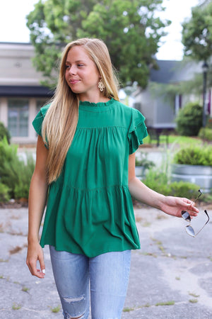 Chasity Blouse In Green