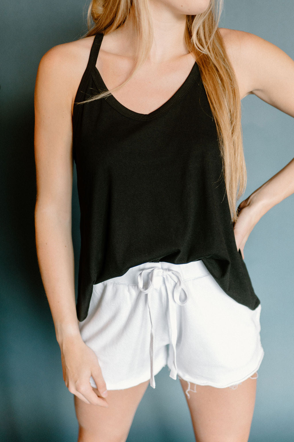 Lift The Mood Tank Top In Black