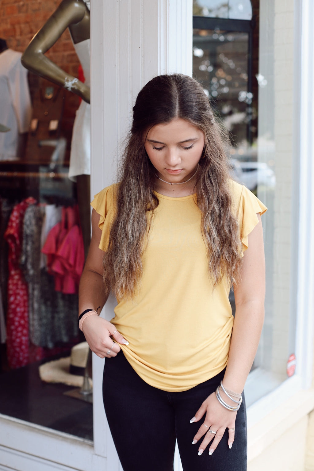 Count On Me Basic Top In Yellow