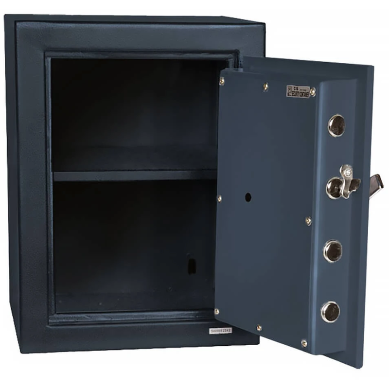 Hollon Safe B2015C Solid Steel B-Rated Commercial Cash Safe, Dial Lock