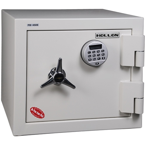 Hollon Safe FB-450E 2 Hr Fire Resistant Safe, Fire and Burglary Home Safe, Electronic Lock