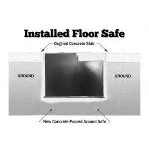 Protex In Ground Floor Safe - IF-2500C- In Floor Safe with LaGard group II combination lock