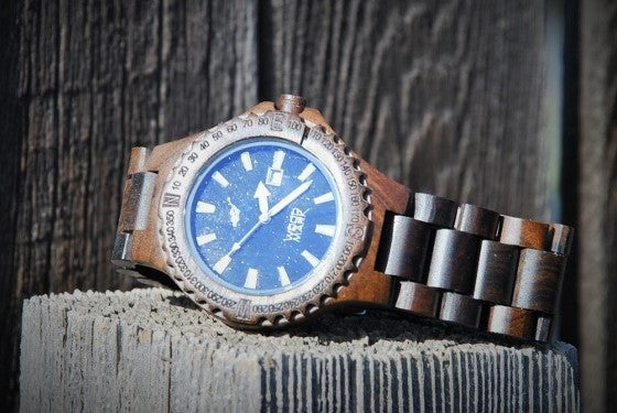 Dark Brown All Wood Men's Watch