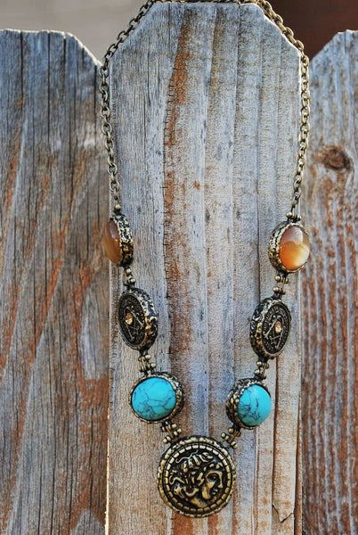 Bronze Ancient Coin Necklace