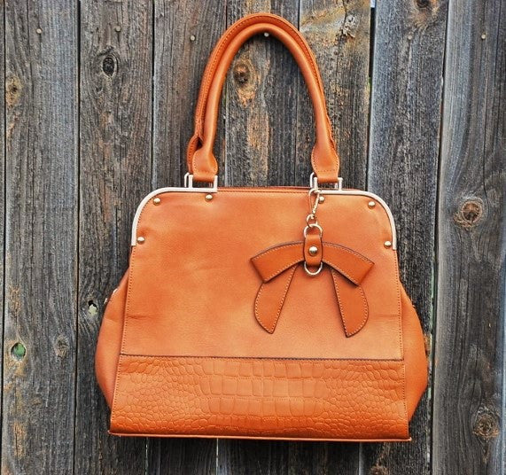 Brown Bow Bag