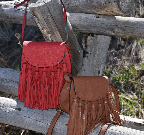 Fringe Front Saddle Bag Handbag