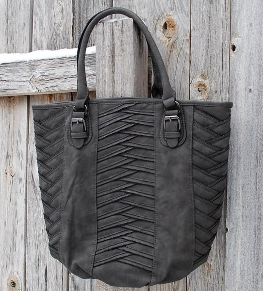 Braided Accent Handbag
