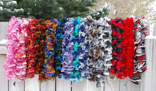 Crocheted Ruffle Scarf