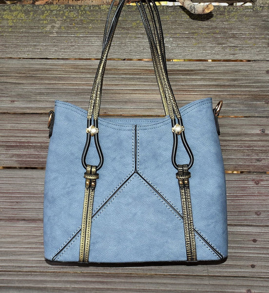 Light Blue Grey Tote