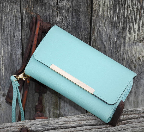 Mint Front Flap Double Zip