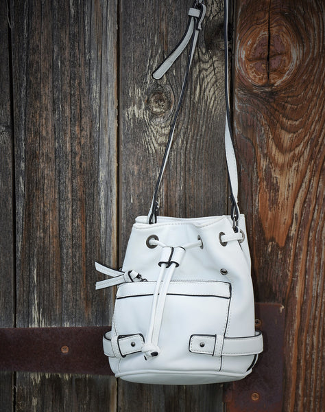 Small White Bucket Bag