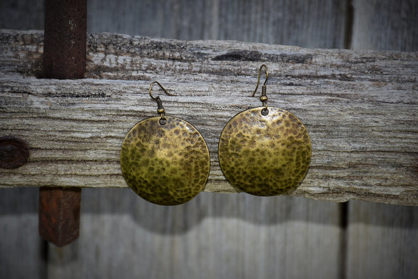 Bronze Circular Specked Earrings