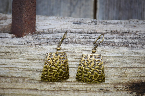 Boxy Bronze Earrings