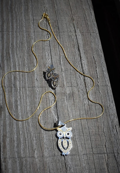 Gold Chain Owl Pendant