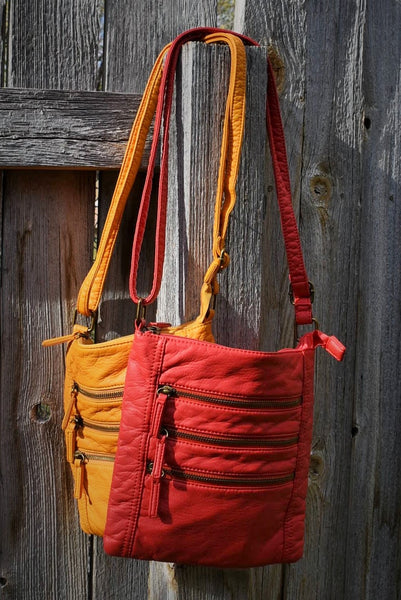 Three Zip Soft Crossbody