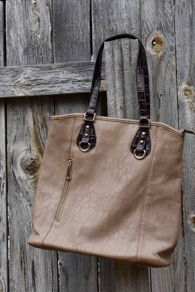 Khaki Two-Toned Shoulderbag