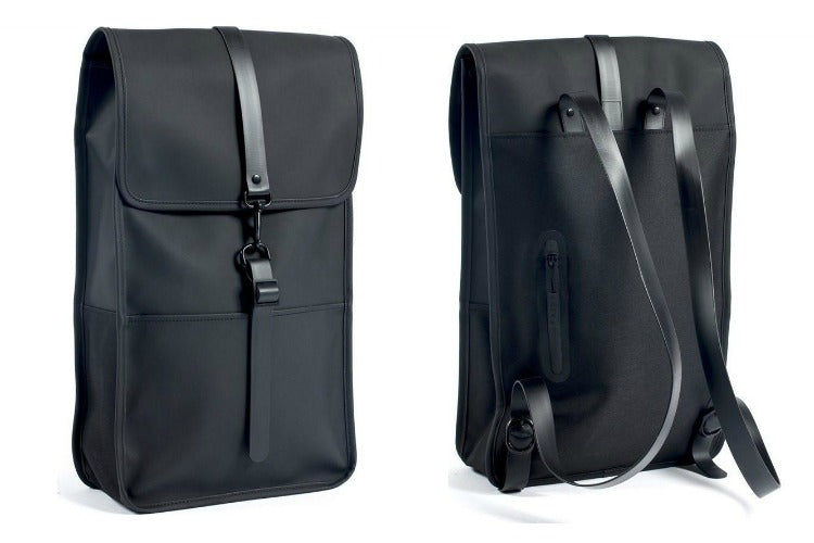 Rains Waterproof Backpack in Black