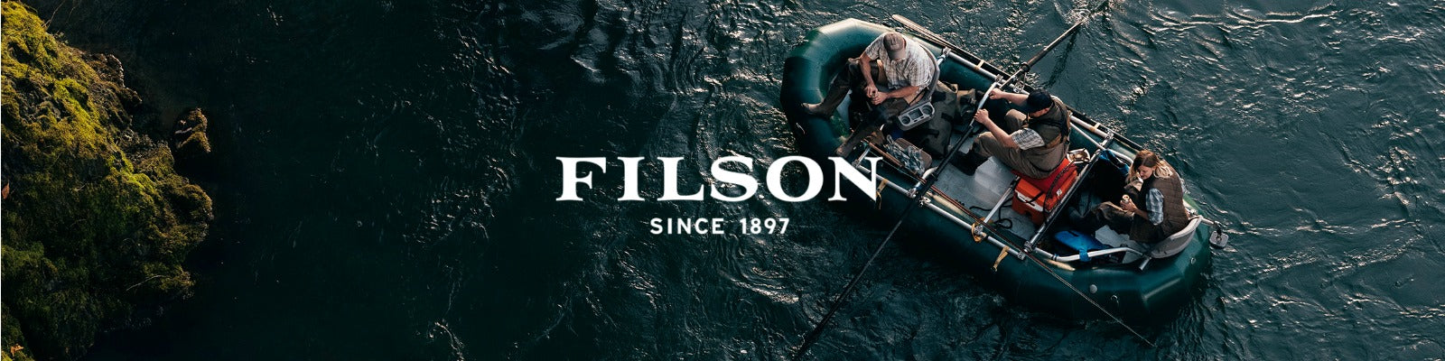Filson apparel, bags and other accessories available online at Sportique.