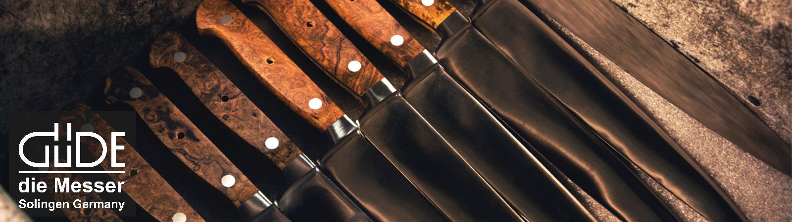 Gude Handmade German Knives, available at Sportique.com