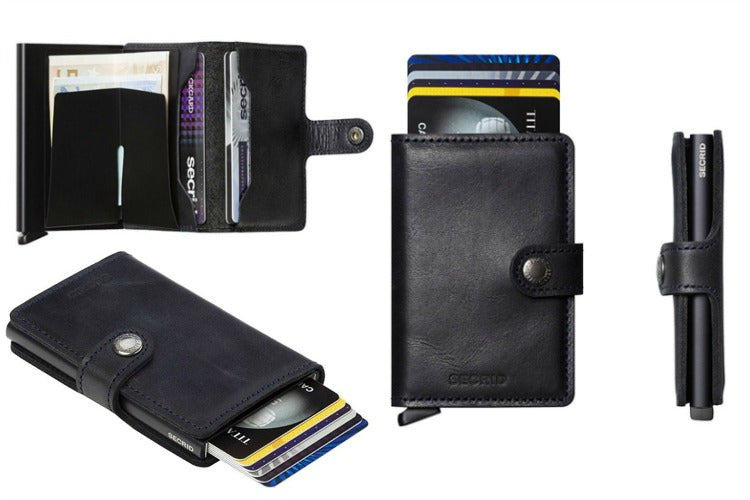 Secrid Mini Wallet Vintage in Black