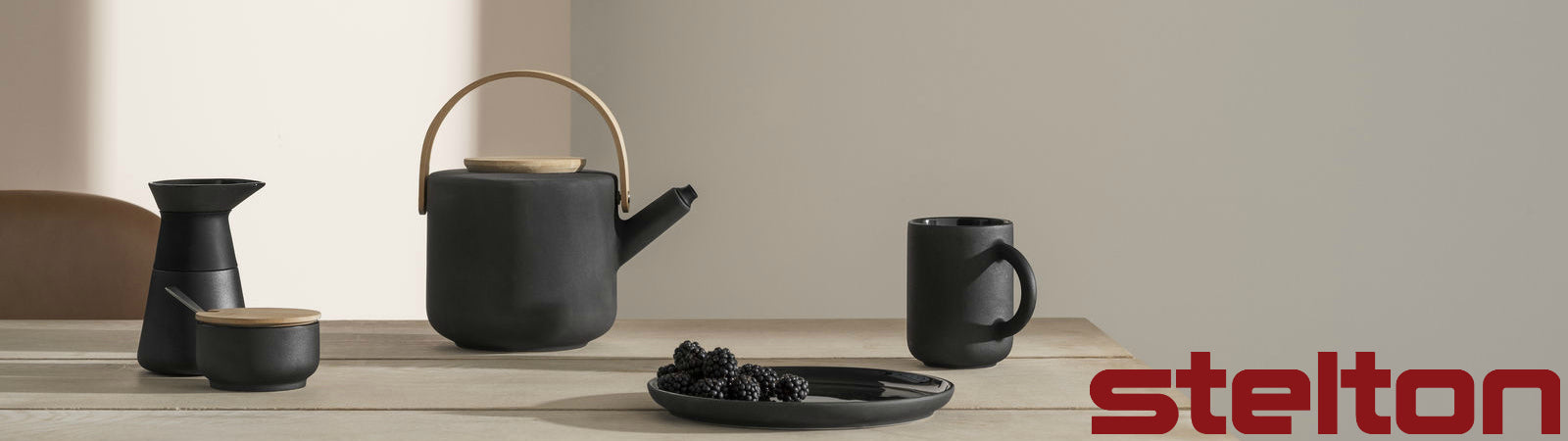The Theo Tea Set from Stelton, available at Sportique.com