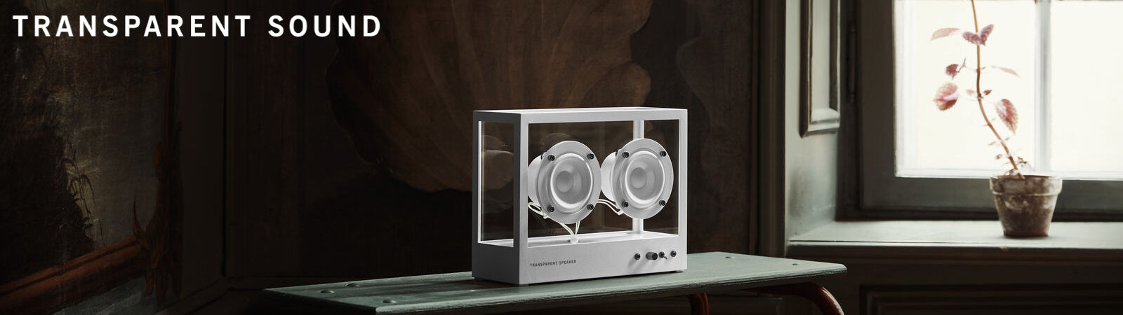 Transparent Sound See Through Speakers available at Sportique.com