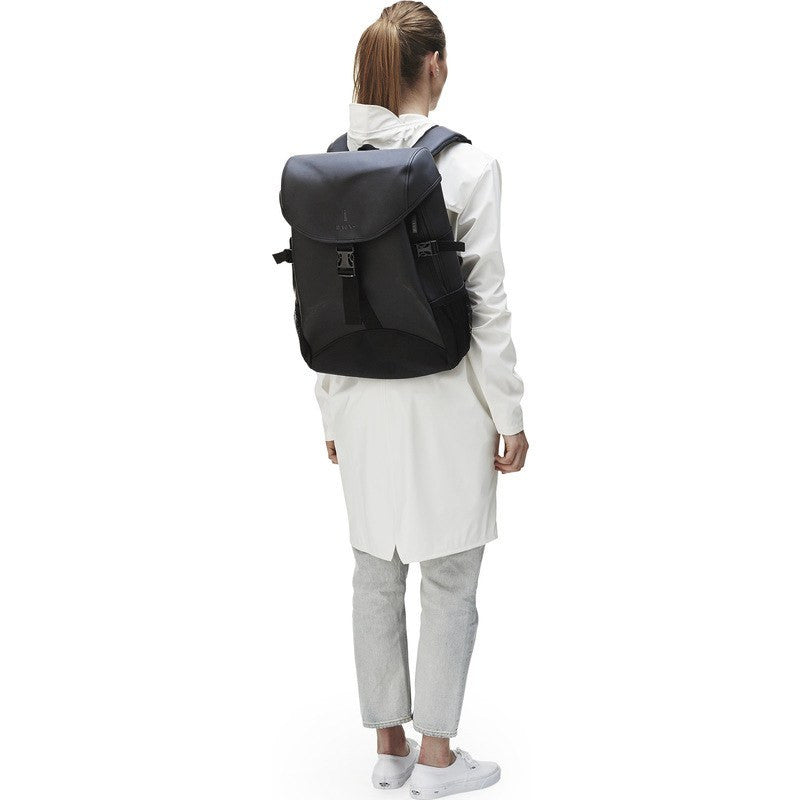 RAINS Waterproof Runner Backpack | Black