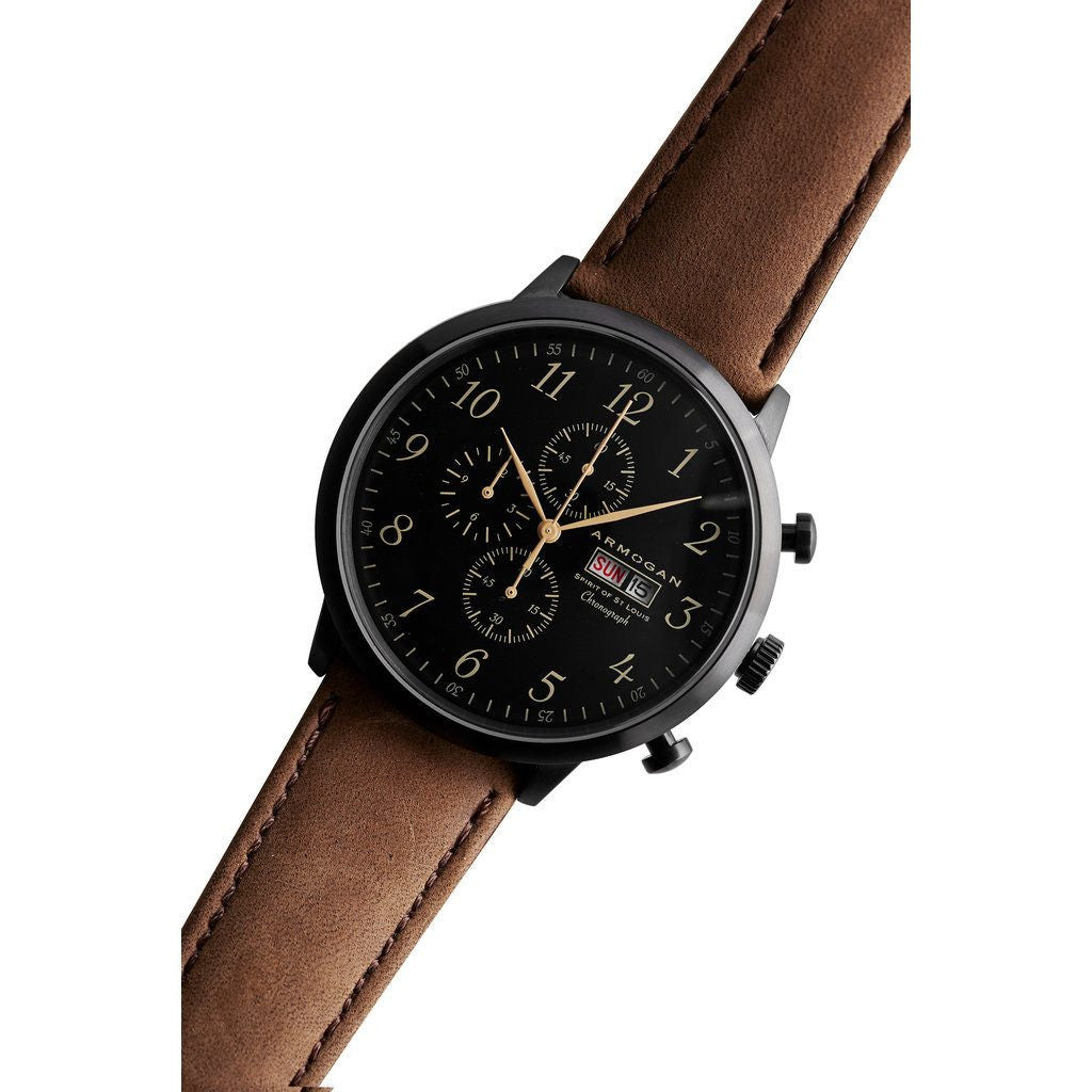 Armogan Spirit of St. Louis Chronograph Watch | Chocolate Brown FGSOSL02CB