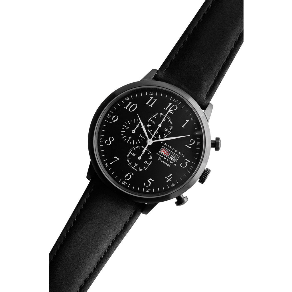 Armogan Spirit of St. Louis Chronograph Watch | Midnight Black FGSOSL03MB