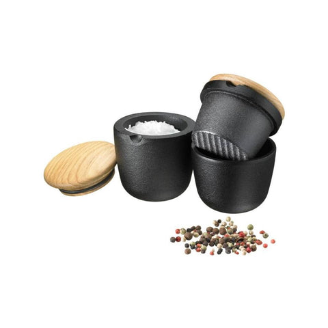 Skeppshult Swing Cast Iron Salt/Spice Mill | Swedish Oak Lid- SK-0071E