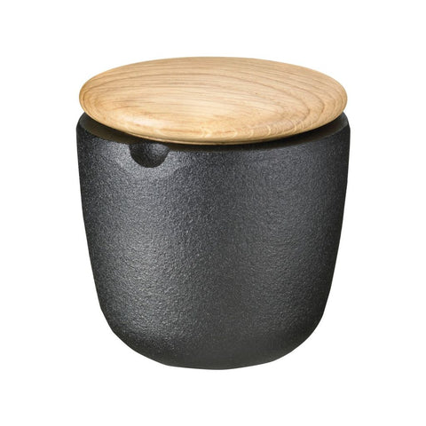 Skeppshult Swing Cast Iron Salt/Spice Bowl | Swedish Oak Lid- SK-0072E
