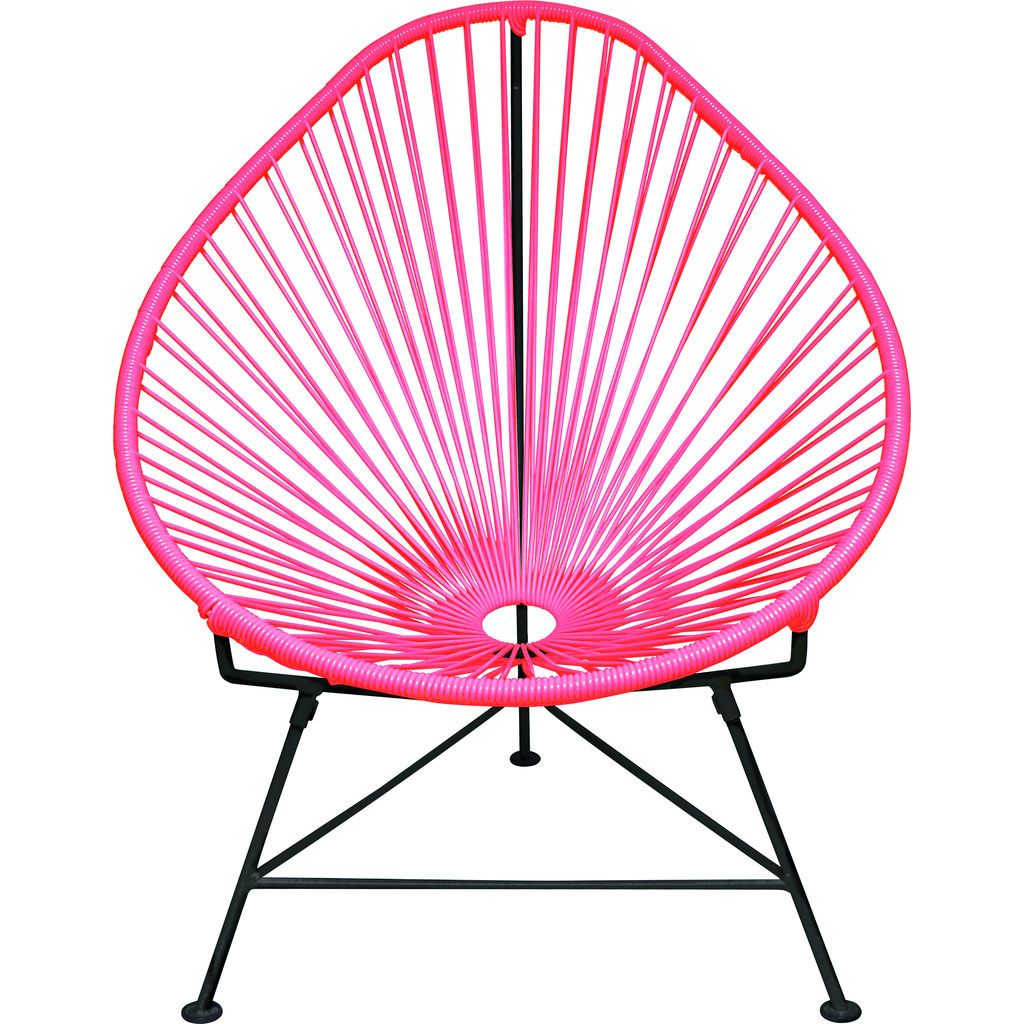 Innit Designs Acapulco Chair | Black/Pink