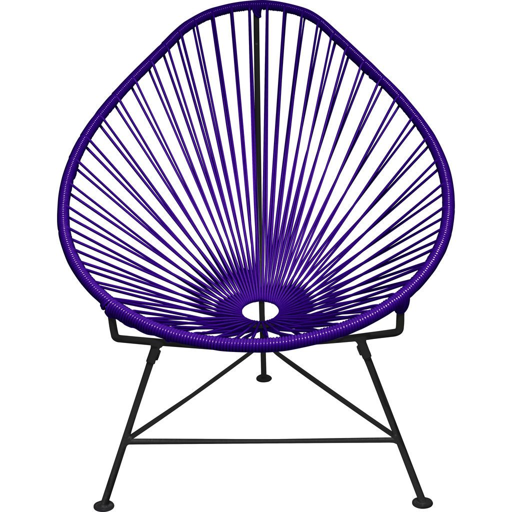 Innit Designs Acapulco Chair | Black/Purple