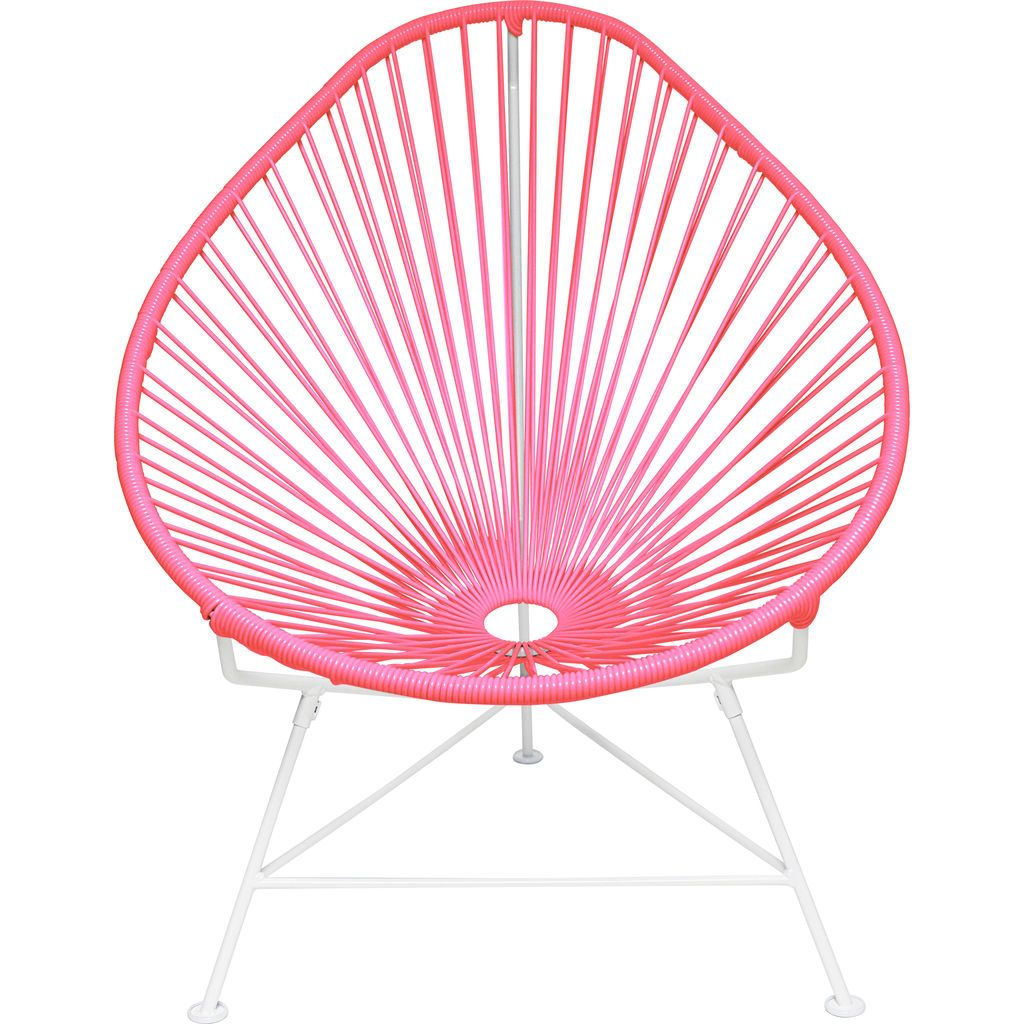 Innit Designs Acapulco Chair | White/Pink