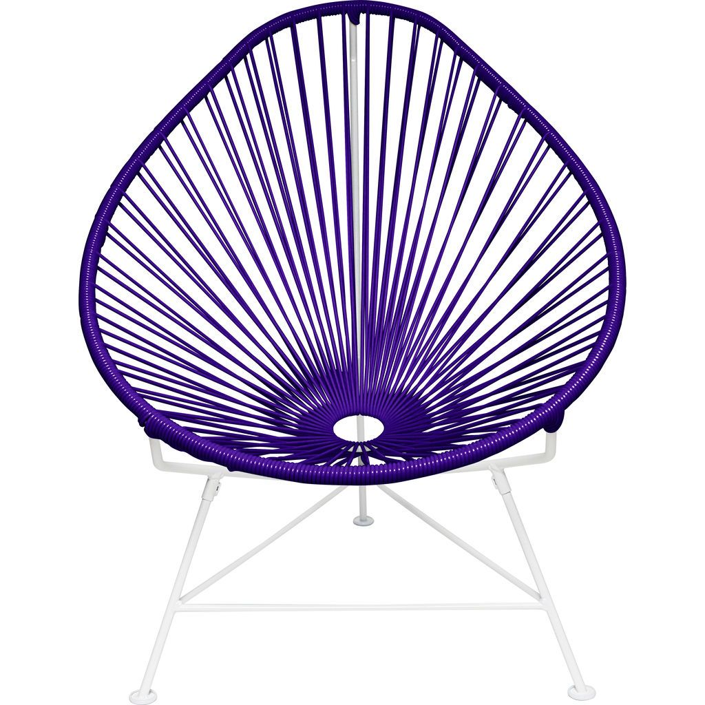 Innit Designs Acapulco Chair | White/Purple