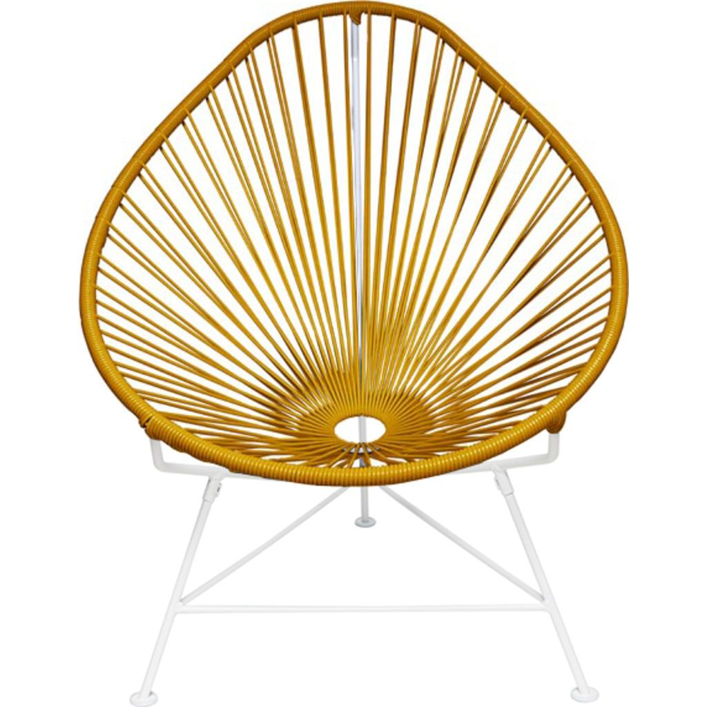 Innit Designs Acapulco Chair | White/Caramel
