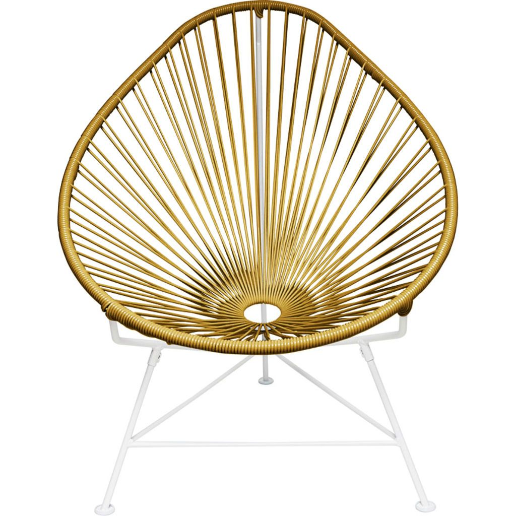 Innit Designs Acapulco Chair | White/Gold