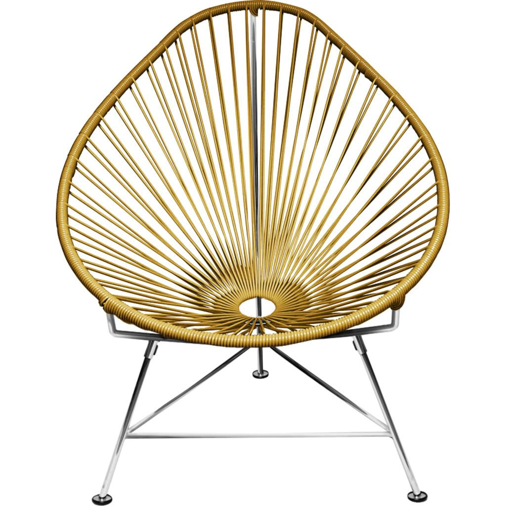 ... Innit Designs Acapulco Chair | Chrome/Gold ...