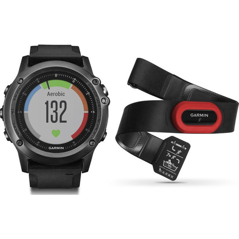 Garmin Fenix 3 HR Multi-Sport GPS Watch | Performer Bundle 010-01338-73