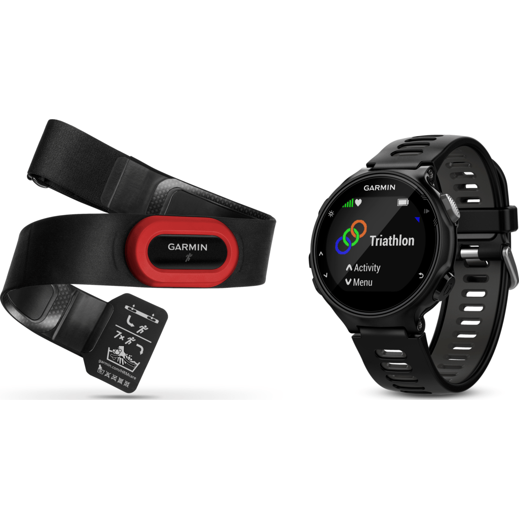 Garmin Forerunner® 735XT Watch Run Bundle | Black/Grey