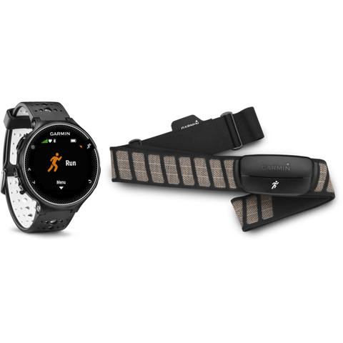 Garmin Forerunner 230 GPS Watch HRM Bundle | Black/White