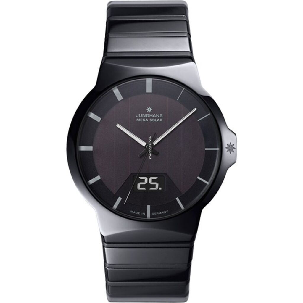 Junghans Force Mega Solar Watch | Black Ceramic Strap 018/1133.44