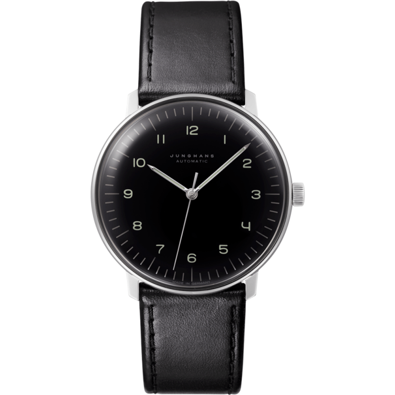 Junghans Max Bill Automatic Watch | Black Calfskin 027/3400.00