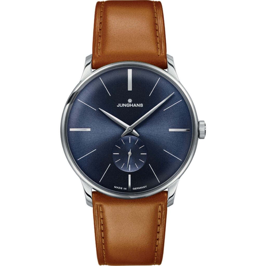 Junghans Meister Hand-Winding Watch | Brown Horse Leather Strap 027/3504.00