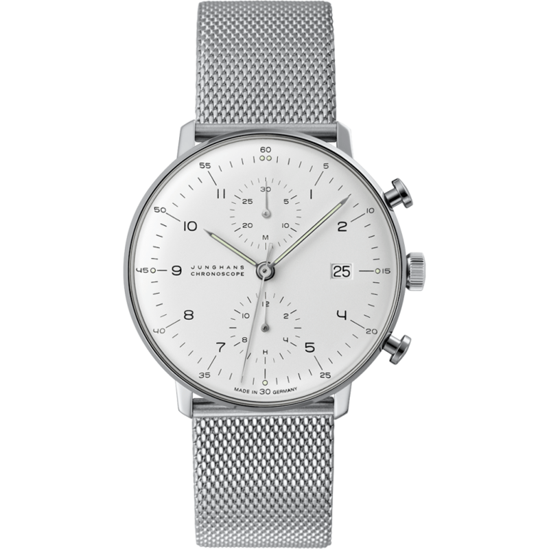 Junghans Max Bill Chronoscope Watch | Milanaise 027/4003.44