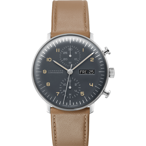 Junghans Max Bill Chronoscope Watch | Calfskin 027/4501.00