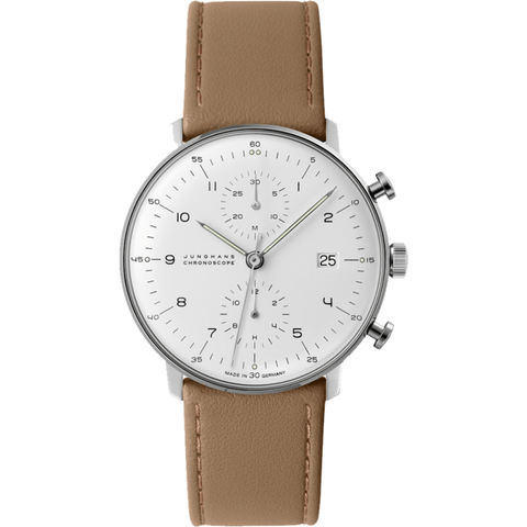 Junghans Max Bill Chronoscope Watch | Calfskin 027/4502.00