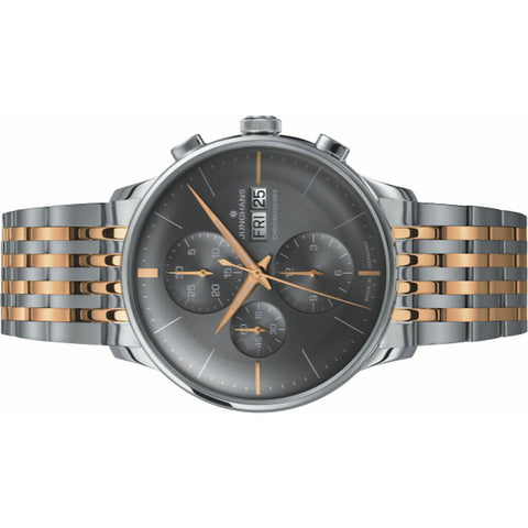 Junghans Meister Chronoscope Grey Watch | Tone Stainless Steel Bracelet 027/4527.45